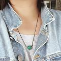 盘绿松珠子