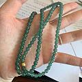 低调有质感的高冰蓝水小珠子手串