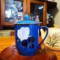 蓝釉骨瓷喷绘茶杯·唐山