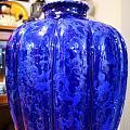 蓝釉瓜楞变窑釉梅瓶