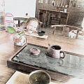 茶室粗见成效