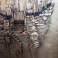銅板藝術,浮塑《臨門》