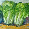冬藏的季节到了,别人家买白菜。我画白菜一样的过冬!