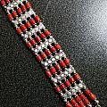 红珊瑚银排手链