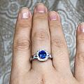 蓝宝戒指好了,天气太差了