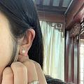 双十一入的钻石耳钉