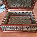 一个伊朗骨木金手工艺品 有收藏价值吗