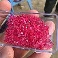 85克拉缅甸曼辛尖晶石八面体,热粉色,超强荧光,颗颗干净体,整手2w