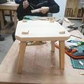 自己做的榫卯结构的椅子完成啦!