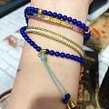 😍彩蓝宝手镯和轨道珠珠手镯和花古古深蓝手链