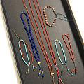 窝在家里各种折腾,编绳子串手串