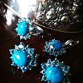 💎松石版本的戴妃款?配海蓝宝/一套七十年代的蓝色系珠宝💎
