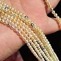 超美BABY AKOYA糖果色日本海水珍珠项链3.5-4mm