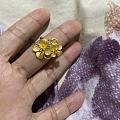 昨天今天收到的绣球花戒指和吊坠