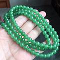 满绿圆珠项链
