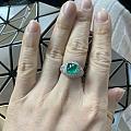 古董款祖母绿戒指