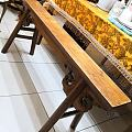 榉木长条凳·晚清