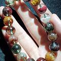 美极了的彩幽灵水晶,每颗珠子都意境十足