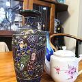 山西珐华釉彩绘花瓶