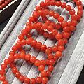 娇艳欲滴的联合料樱桃红南红老型珠手链