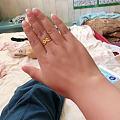 队友外婆补给我的订婚戒指,还有前几天老克勒直播间买的,克价530的烧蓝小葫芦
