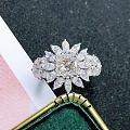 1.03克拉 G VS1 2Ex N GIA公主方。马眼钻石镶嵌,犹如指尖绽...