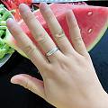 铂金项链与戒指!配一套!