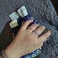 振贤小方条足银戒指  也好好看,上手舒服,但是我更喜欢泥鳅背哒!指围是个15...