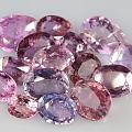 今天又得到了几个紫色和粉色系的蓝宝石