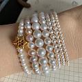 不知不觉DIY了各个型号珍珠手链😂