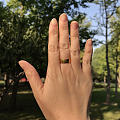 陪娃公园玩一圈  光面戒指 大变身 自然锤纹吗😂😂😂
