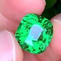 【皇家蓝彩宝】12卡沙弗莱,色标级颜色,不深不浅刚刚好