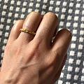 等了两个月的戒指