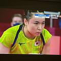 日本的伊藤选手团体赛半决赛单打对阵中国香港