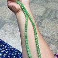 今日收了一串看着极度舒适的翡翠甜绿项链
