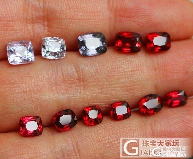 一手缅甸尖晶石   一手卢比来红碧玺_碧玺尖晶石刻面宝石