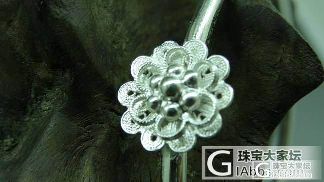 炎炎的夏天,戴上几朵小花是不是凉意嘻嘻_手镯银