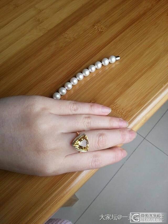 一个金色绿柱石戒指_少见宝石刻面宝石