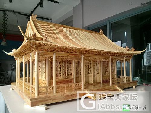 七夕节给女友特别的礼物,为女友造一座行宫_木工模型