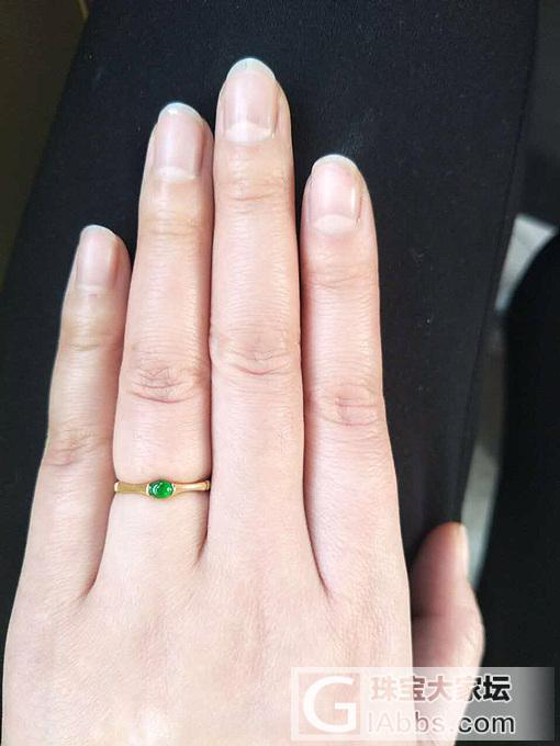 镶嵌的三个小戒指到啦_戒指翡翠