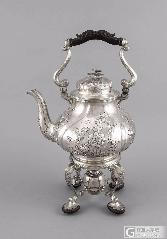 欧洲老银茶壶,可以用酒精灯保温_西洋银器