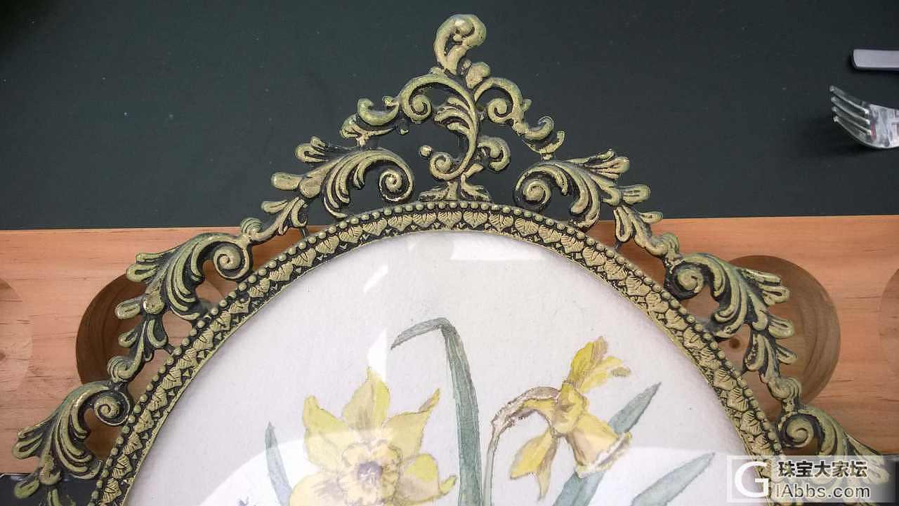 一个镀金画框的本色还原_大家谈摆件工艺品收藏