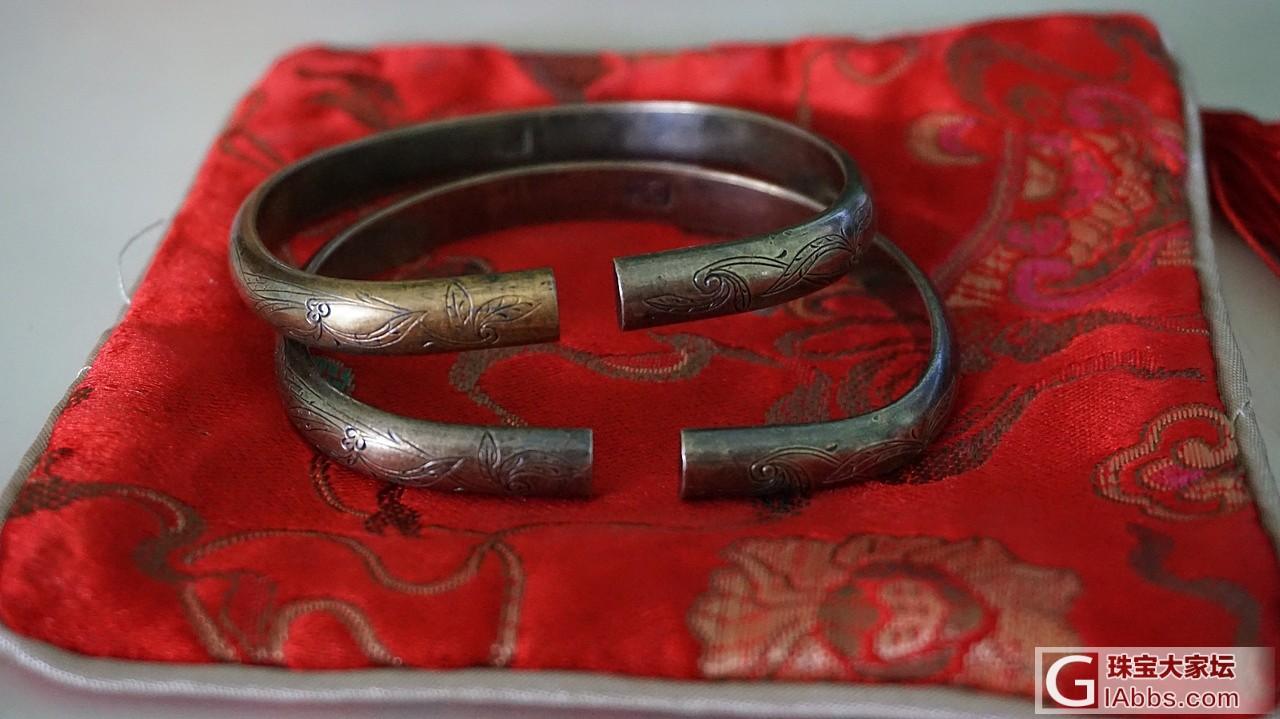 家里老人传下来的老鎏金镯 晒晒顺便求教个保养方法_老银银手镯古董首饰