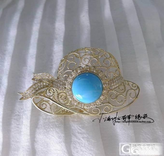 【小潘镶嵌】8.3 绿松 睡美人 时尚帽子胸针吊坠两用_小潘镶嵌