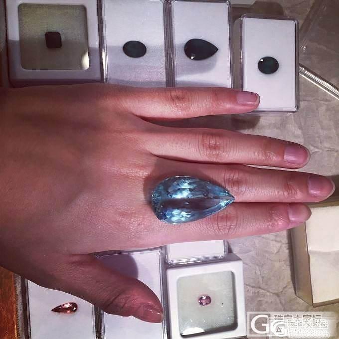 50+克拉海蓝宝,巴西出差中,啥都不说了上图吧_海蓝宝刻面宝石