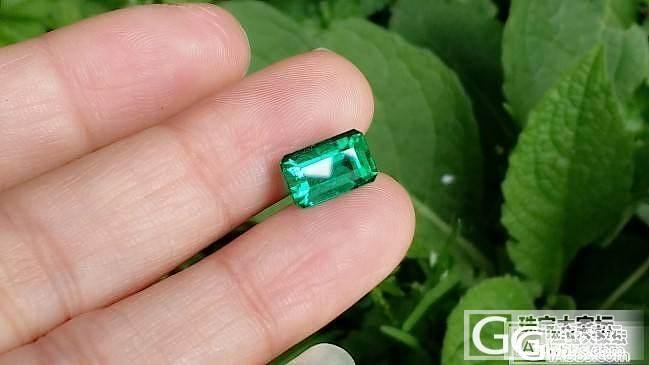 【祖母绿】因为真的很美,2.44克拉,极微油,vivid green,GRS证书_上海皇家蓝彩宝