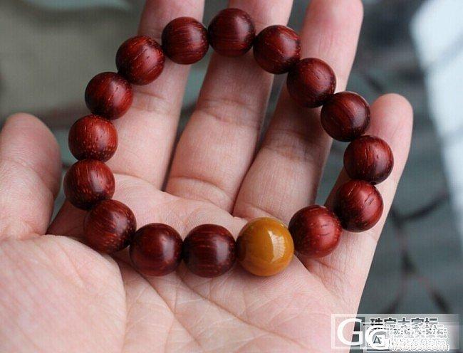 【鸿宇阁】战国红鸡油黄红檀佛珠手串12mm280元_传统玉石