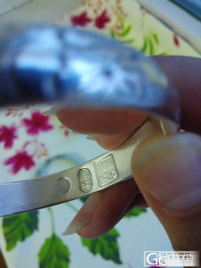 转让建工银饰的醉荷手镯,57开口圆形,送10件全新大礼_银