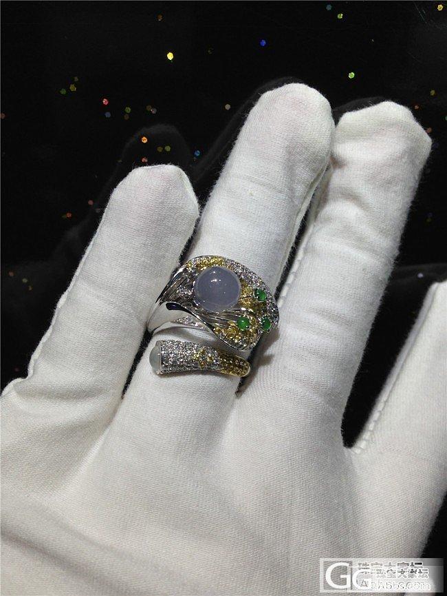 大家帮忙看看,刚镶嵌好的戒指,款式怎么样给评下分_戒指翡翠