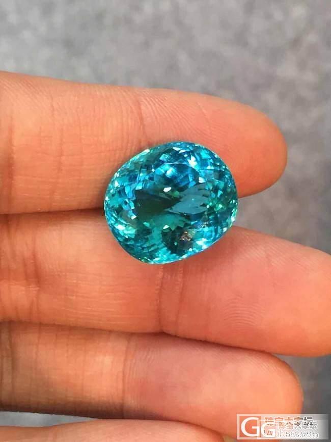 #P.N. GEMS # 23克拉顶级帕拉伊巴碧玺_莫桑石珠宝